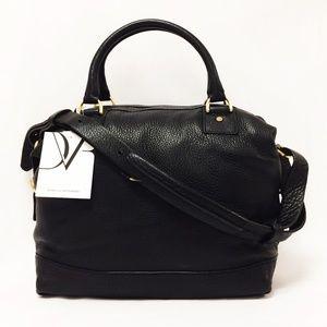 DVF Diana Von Furstenberg Drew Leather Satchel Bag